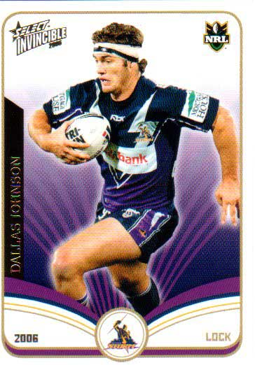 2006 NRL Invincible Common #69 Dallas Johnson Storm