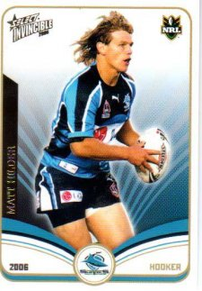 2006 NRL Invincible Common #43 Matt Hilder Sharks