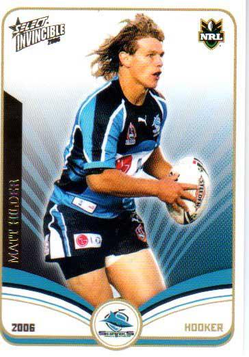 2006 NRL Invincible Common #43 Matt Hilder Sharks