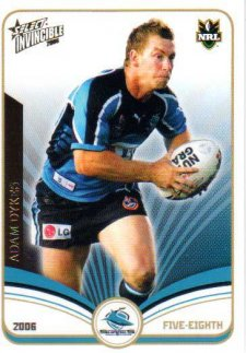 2006 NRL Invincible Common #41 Adam Dykes Sharks