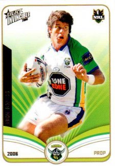 2006 NRL Invincible Common #38 Ben Jones Raiders