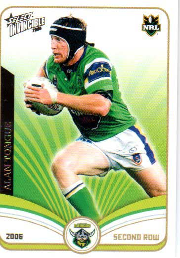 2006 NRL Invincible Common #34 Alan Tongue Raiders