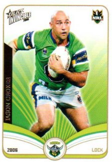 2006 NRL Invincible Common #33 Jason Croker Raiders