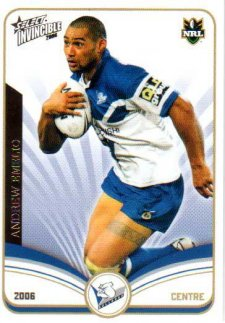2006 NRL Invincible Common #25 Andrew Emelio Bulldogs