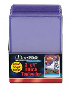 ULTRA PRO Top Loader – 3 x 4 Clear (55pt)