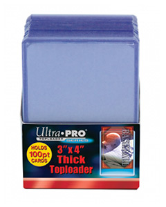 ULTRA PRO Top Loader – 3 x 4 Clear (100pt)