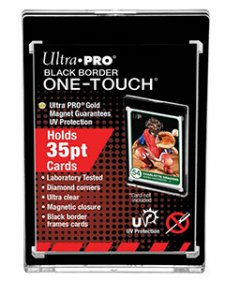 ULTRA PRO Specialty Holders – 35PT – UV Black Border One Touch w/Magnetic Closure