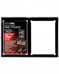 ULTRA PRO One-Touch 2-Card Black Border Magnetic Closure