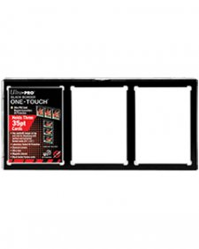 ULTRA PRO One-Touch 3-Card Black Border Magnetic Closure