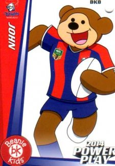 2014 NRL Power Play Beenie Kids Bag Tag BK8 Newcastle Knights
