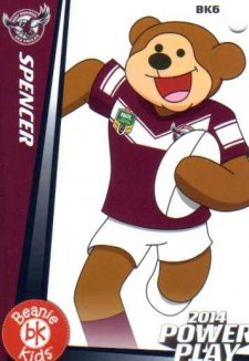 2014 NRL Power Play Beenie Kids Bag Tag BK6 Manly Sea Eagles