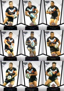 2015 NRL Elite 10-Card Base Team Set Wests Tigers