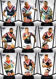 2015 NRL Elite 10-Card Base Team Set Sydney Roosters
