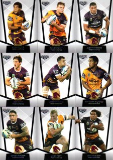 2015 NRL Elite 10-Card Base Team Set Brisbane Broncos
