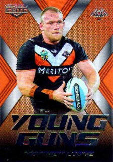 2015 NRL Elite Young Guns #YG32 Matthew Lodge Tigers