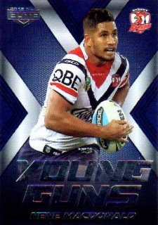 2015 NRL Elite Young Guns #YG28 Nene Macdonald Roosters