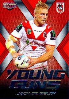 2015 NRL Elite Young Guns #YG25 Jack De Belin Dragons