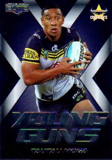 2015 NRL Elite Young Guns #YG17 Tautau Moga Cowboys