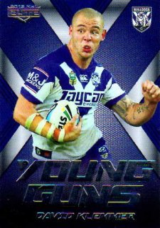 2015 NRL Elite Young Guns #YG5 David Klemmer Bulldogs