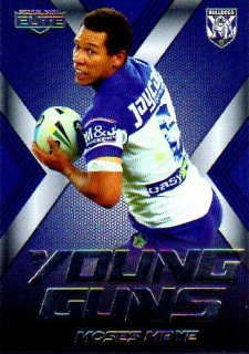 2015 NRL Elite Young Guns #YG6 Moses Mbye Bulldogs