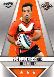 2015 NRL Elite Club Champions #CC32 Luke Brooks Tigers