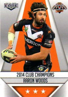 2015 NRL Elite Club Champions #CC31 Aaron Woods Tigers
