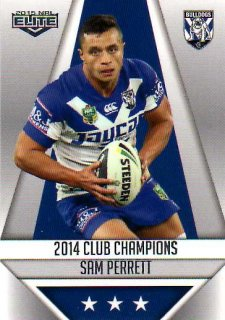 2015 NRL Elite Club Champions #CC6 Sam Perrett Bulldogs