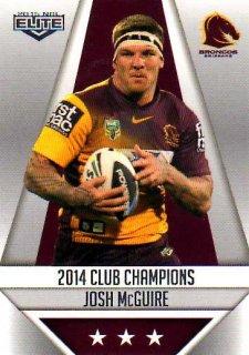 2015 NRL Elite Club Champions #CC2 Josh McGuire Broncos