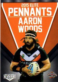 2015 NRL Elite Pennants #EP80 Aaron Woods Tigers