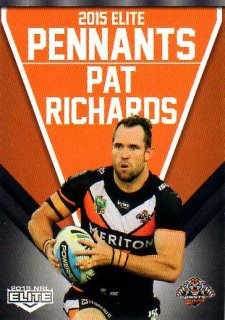 2015 NRL Elite Pennants #EP77 Pat Richards Tigers
