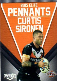 2015 NRL Elite Pennants #EP78 Curtis Sironen Tigers