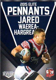 2015 NRL Elite Pennants #EP70 Jared Waerea-Hargreaves Roosters