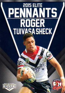 2015 NRL Elite Pennants #EP69 Roger Tuivasa-Sheck Roosters
