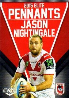 2015 NRL Elite Pennants #EP64 Jason Nightingale Dragons