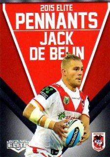 2015 NRL Elite Pennants #EP62 Jack De Belin Dragons