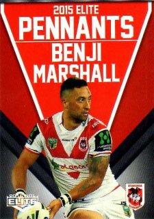 2015 NRL Elite Pennants #EP63 Benji Marshall Dragons