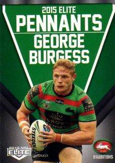 2015 NRL Elite Pennants #EP56 George Burgess Rabbitohs