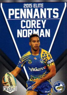 2015 NRL Elite Pennants #EP48 Corey Norman Eels
