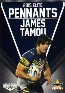 2015 NRL Elite Pennants #EP44 James Tamou Cowboys