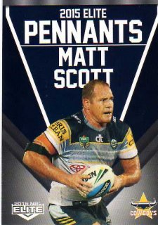2015 NRL Elite Pennants #EP43 Matt Scott Cowboys