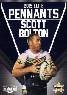 2015 NRL Elite Pennants #EP41 Scott Bolton Cowboys