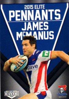 2015 NRL Elite Pennants #EP38 James McManus Knights