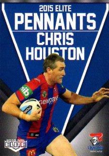 2015 NRL Elite Pennants #EP37 Chris Houston Knights