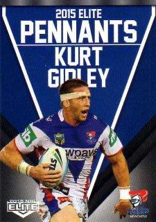 2015 NRL Elite Pennants #EP36 Kurt Gidley Knights