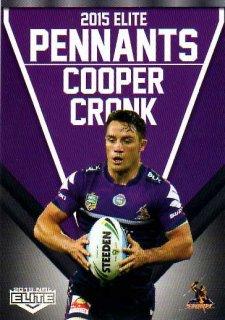 2015 NRL Elite Pennants #EP32 Cooper Cronk Storm