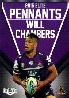 2015 NRL Elite Pennants #EP31 Will Chambers Storm