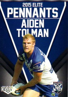 2015 NRL Elite Pennants #EP15 Aiden Tolman Bulldogs