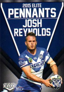 2015 NRL Elite Pennants #EP14 Josh Reynolds Bulldogs