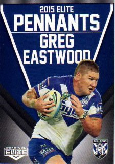 2015 NRL Elite Pennants #EP11 Greg Eastwood Bulldogs