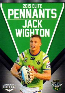 2015 NRL Elite Pennants #EP10 Jack Wighton Raiders